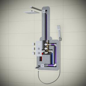 Душевая система TIMO с термостатом Tetra-Thermo SX-0179/00 Chrome