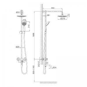 Душевая система D&K Hessen Grimm DA1384741E09