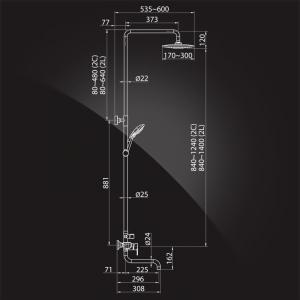 Душевая система Elghansa Shower  Systems 2304483-2L (Set-21) Chrome