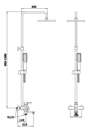 Душевая система GANZER GZ25066E Золото