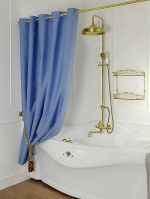 Шторка для душа/ванны Migliore Ар-Деко 25530 Голубой