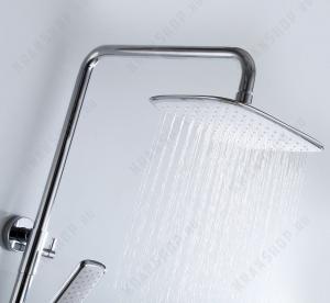 Душевая система Boheme Venturo 378-W Белый/Хром