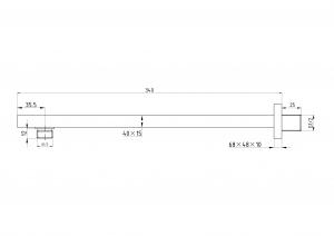 Настенный держатель для тропического душа Elghansa Unit CR-53 Chrome