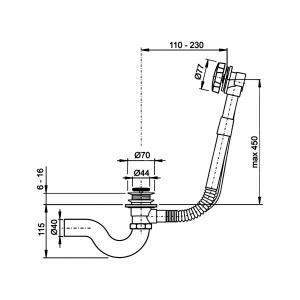 Обвязка для ванны TIMO 8004 Антик