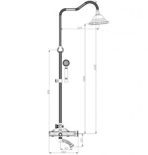 Душевая система ZorG Antic A 103DS-Bronze