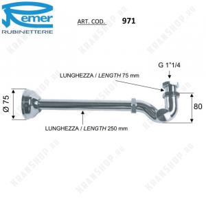 Сифон для раковины Remer 971114 Хром