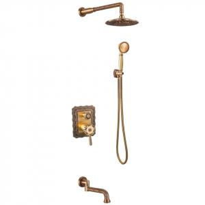 Душевая система ZorG Antic A 104DS-Bronze