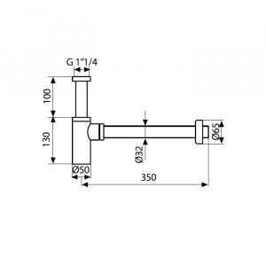 Сифон для раковины Webert AC0020560 Черный матовый