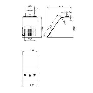 Тропический душ Webert AC0984845 Полированная сталь