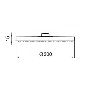 Тропический душ Webert AC1010015PVC Хром