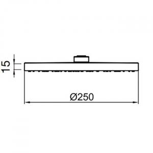 Тропический душ Webert AC1011015PVC Хром