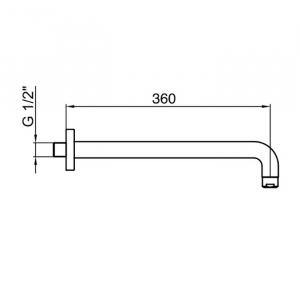Настенный держатель для тропического душа Webert AC1022560 Черный матовый