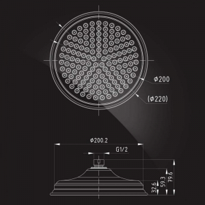 Тропический душ Elghansa Shower Head CD-220 Bronze