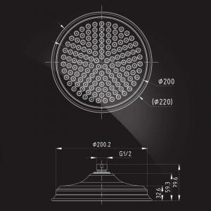 Тропический душ Elghansa Shower Head CD-220 Chrome