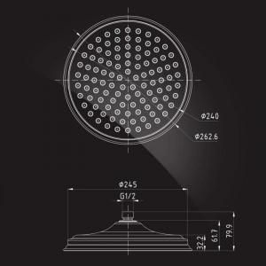 Тропический душ Elghansa Shower Head CD-260 Bronze