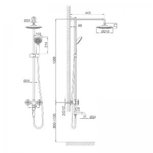 Душевая система D&K Hessen Goethe DA1384701E09