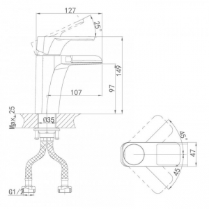 Cмеситель для раковины D&K Berlin Steinbeis DA1432816