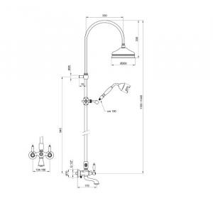 Душевая система Webert Dorian DO721208065 Бронза
