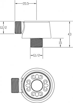 Подключение для шланга ZorG AZR 4 BR
