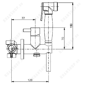 Гигиенический душ со смесителем Webert EL870302980 Розовое золото