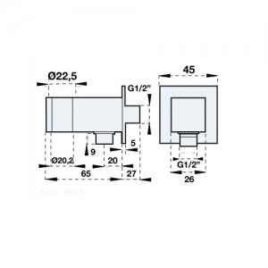Подключение для шланга Artis G24028C Chrome