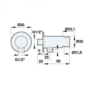 Подключение для шланга Artis G24029C Chrome