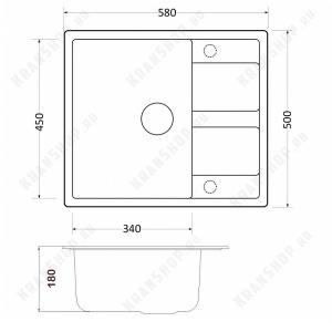 Кухонная мойка Zorg GR 580 Black