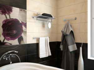 Полка с держателем для полотенца Elghansa Kentucky KNT-205 Chrome