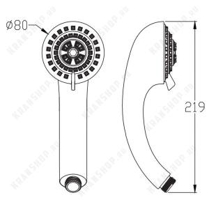 Душевая лейка Elghansa Hand Shower MG-033 White