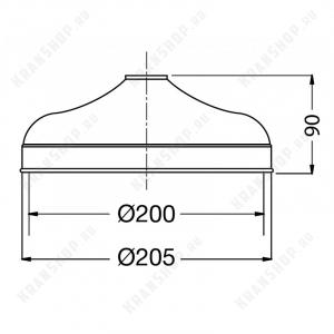 Тропический душ Migliore Roma D-200 ML.ROM-35.620.DO