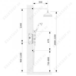 Душевая система TIMO Nelson SX-1390/00SM Chrome