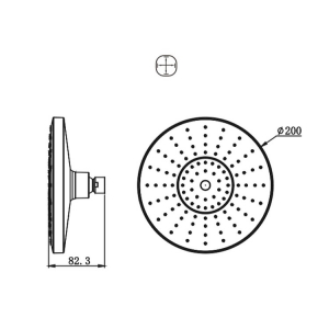 Тропический душ Bravat Built-in P70183CP-1-RUS Хром