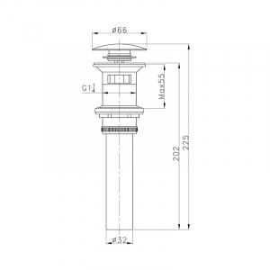 Донный клапан AltroBagno PU 070202 Br