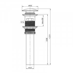 Донный клапан для раковины AltroBagno PU 070209 Br