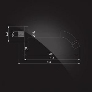 Излив настенный Elghansa RoundLine RS-7P Chrome