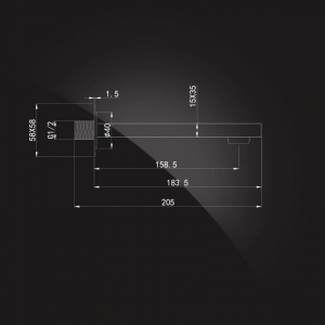 Излив настенный Elghansa SquareLine RS-7W Chrome