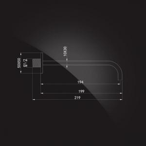 Излив настенный Elghansa SlimLine RS-8W Chrome