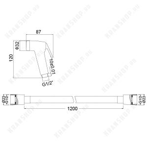Гигиеническая лейка в наборе TIMO SG-3052 Chrome