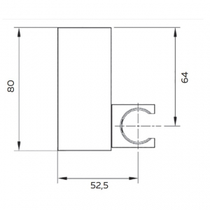 Настенный держатель для ручного душа AltroBagno SHK 070501 Cr Хром