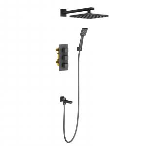 Душевая система TIMO с термостатом Tetra-Thermo SX-0199/03SM Black