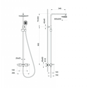Душевая система TIMO Helmi SX-1170/00-16 Хром-Белый