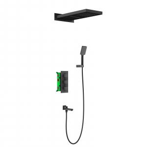 Душевая система TIMO с термостатом Petruma SX-5079/03SM Черный