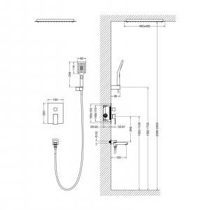 Душевая система TIMO Selene SX-2039/03SM Черный