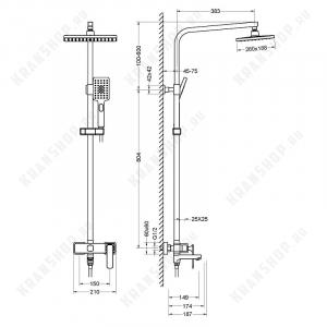 Душевая система TIMO Torne SX-4320/02 Antique