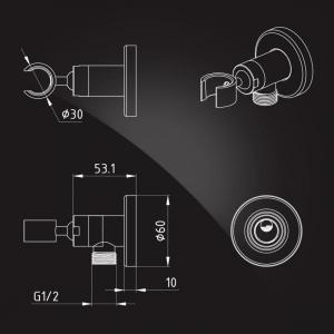 Подключение для шланга Elghansa WS-18 Chrome