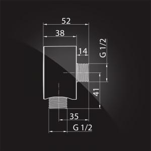 Подключение для шланга Elghansa WS-5N Chrome