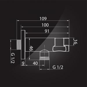 Подключение для шланга Elghansa WS-6K Black