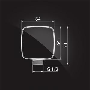 Подключение для шланга Elghansa WS-7M Chrome