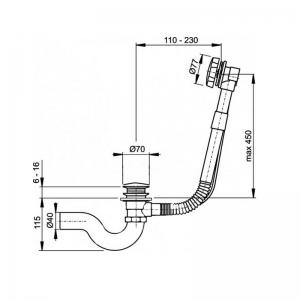 Обвязка для ванны Zorg Antic WS - Bronze