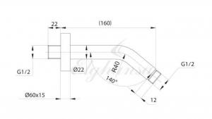 Настенный держатель для тропического душа Elghansa Unit CR-15 Chrome